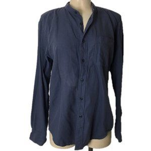 UNIQLO Button Down Oversized Blouse High-Low Hem
